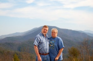 mom and chuck at buck bald tn. 3-12-07