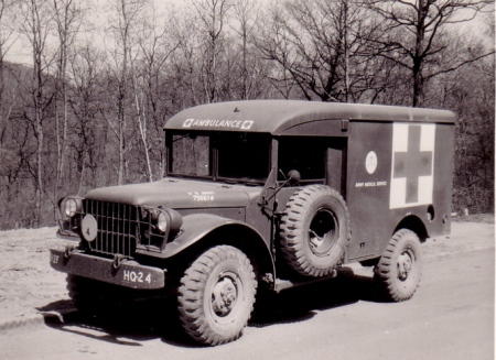 ARMY AMBULANCE C. 1957
