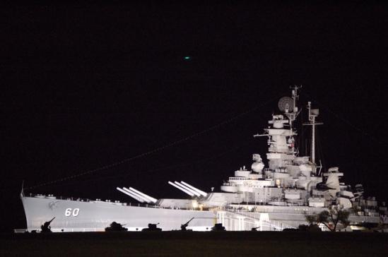 BB-60 ALABAMA AT NIGHT 3-19-07