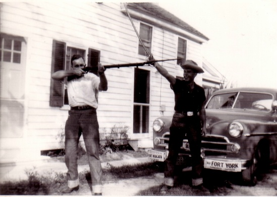 DAD AND HIS TOWER MUSKET 1956
