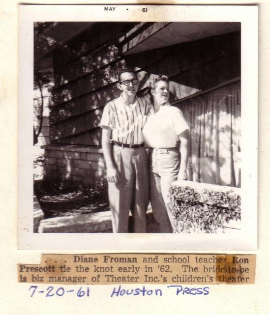 RON AND DIANNE PRESCOTT 1961